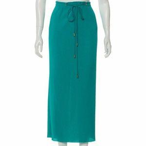 Diane von Furstenberg Pleated Maxi Skirt